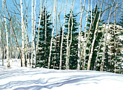 Gunnison Prints - Winter Walk Print by Barbara Jewell