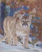 Puma Pastels - Winter Wanderer by Jan Fontecchio Perley