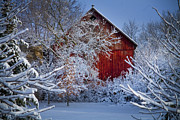 Barns Photos - Winter Warmth  by Jeff Klingler