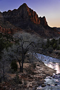Southern Utah Photo Framed Prints - Winter Watchman Framed Print by Chad Dutson