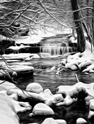 Brian Mollenkopf - Winter Water Fall