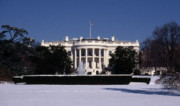 Roman Columns Prints - Winter White House  Print by Skip Willits