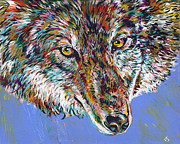 Wolf Artist Painting Posters - Winter Wolf Poster by Lovejoy