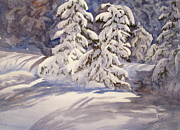 Xmas Painting Originals - Winter Wonder by Mohamed Hirji