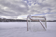 Hockey Net Posters - Winter Wonderland Poster by Andrew Doble