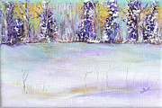 Snowy Trees Paintings - Winter Wonderland by Claire Bull