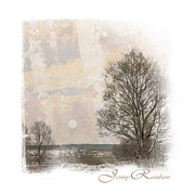 Winter Scene Prints - Winter Wonderland. Elegant KnickKnacks from JennyRainbow Print by Jenny Rainbow