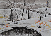 Snowfall Paintings - Winter Wonderland by Heidi Garwig