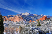 Mountains Photographs Posters - Winter Wonderland in Colorado Poster by John Hoffman