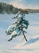 Snowy Trees Paintings - Winter Wonderland by Karen Richardson