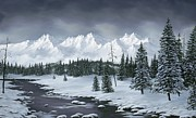 Snowscape Painting Metal Prints - Winter Wonderland Metal Print by Rick Bainbridge
