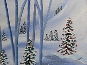 Snow Tree Prints Prints - Winter-Wonderland-Snow Time Print by Beverly Livingstone