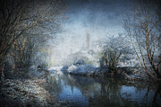 Snowy Stream Posters - Winter Wonderland Poster by Svetlana Sewell