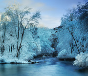 Reflections In River Prints - Winter Wonderland Print by Thomas Schoeller
