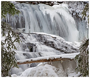 Falling Water Creek Prints - Winter Wonderland Waterfall Print by John Stephens