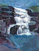 Swimming Hole Paintings - Wintergreen Falls as a Memorial by Betty Pieper