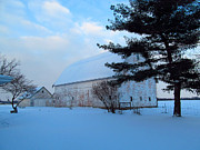 Winter Roads Photos - Winterland Farmland by Tina M Wenger