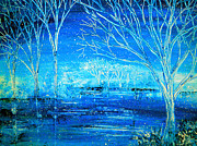 Kinkade Paintings - Winterlude by Ann Marie Bone