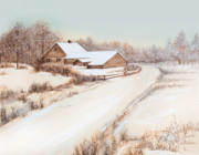 Winter Landscape Paintings - Winterness by Michelle Wiarda