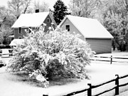 Old House Photographs Prints - Winters Arrival II Print by Deborah Fay