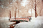 Marty Koch  Metal Prints - Winters Bridge Metal Print by Marty Koch
