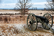 Winter Prints Framed Prints - Winters Cannon Framed Print by John Rizzuto
