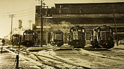 Diesel Locomotives Prints - Winters Chill Print by Mike Flynn