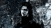 Kingdoms Mixed Media Posters - Winters Coming Poster by The DigArtisT