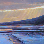 Tidal River Pastels - Winters Dawn by Ed Chesnovitch
