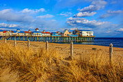 Old Orchard Beach Photos - Winters Day by Stephen Beckwith