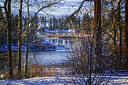 Spokane River Prints - Winters Edge Print by Reflective Moments  Photography and Digital Art Images