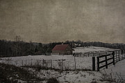 Winter's Farm Print by Terry Rowe