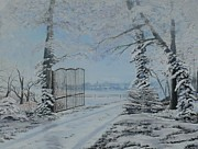 Winter Roads Painting Framed Prints - Winters Grip Framed Print by William Stewart