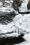New England Winter Metal Prints - WInters Icy Grip Metal Print by Bill  Wakeley