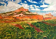 Sedona Cowboy Painting Originals - Winters Last Gasp by Chris  Easley