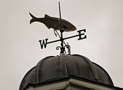 Weathervane Prints - Winters NE Wind Print by Mary Carol Williams