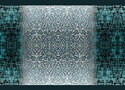 Turquoise Tapestries - Textiles Prints - Winters past and present Print by CR Leyland