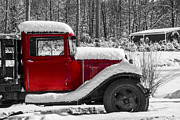 Karol  Livote - Winters Red Truck