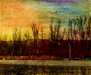 Evening Light Pastels Prints - Winters Shore Print by R Kyllo