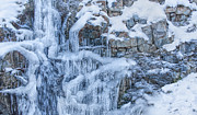 Water Over Rock Photos - Winters Taking Over by Paul W Sharpe Aka Wizard of Wonders