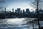 Cyan Prints - Winters Touch - Manhattan Print by Madeline Ellis