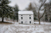 Stone House Digital Art Prints - Wintertime in Valley Forge Print by Bill Cannon