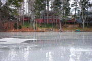 Skates Photos - Wintery Reflection by Robert Harmon