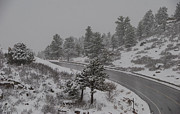 Horsetooth Reservoir Art - Wintry Climb by Harry Strharsky