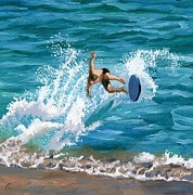 Dude Paintings - Wipeout by Alice Leggett