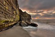 Wipeout Beach Cliffs Print by Peter Tellone