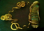 Brass Jewelry - Wired hug by Maria Mccullough