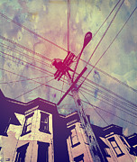 Sky Drawings Prints - Wires Print by Giuseppe Cristiano