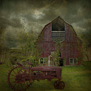 Antique Tractor Posters - Wisconsin Barn 3 Poster by Jeff Burgess
