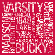 Word Art Art - Wisconsin College Colors Subway Art by Replay Photos